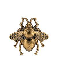 Bague abeille avec émail Gucci en coloris Metallic