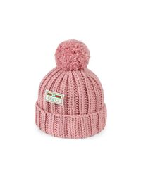 Gucci Pink Wool Hat With Jacquard Label