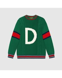 Gucci Green DIY Unisex Pullover aus Wolle