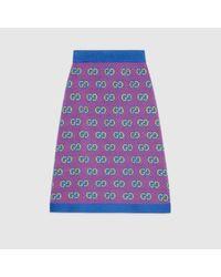 Gucci GGストライプ ウールジャカード スカート Multicolor