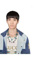 Collar Garden con Cabezas Felinas Gucci de hombre de color Metallic