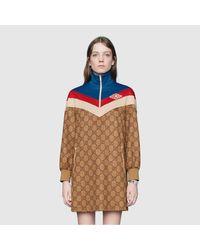 Gucci グッチGGテクニカルジャージー ドレス Natural