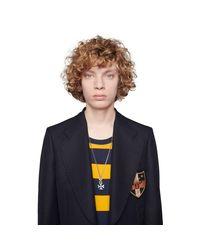 Collar de Plata con Cruz Gucci de hombre de color Multicolor