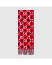Gucci ウール スカーフ Red