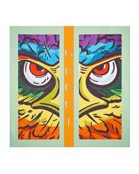 Carré de coton à imprimé aigle Gucci pour homme en coloris Green