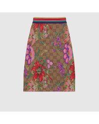 Gucci グッチGGフローラ ウールジャカード スカート Multicolor