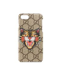 Gucci Multicolor Angry Cat Print Iphone 7 Case