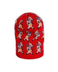 Gorro de Lana con Cerditos Gucci de hombre de color Red