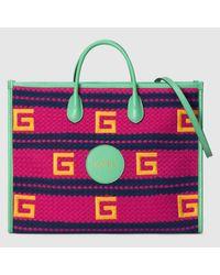 Gucci Capri Shopper mit Streifenmuster in Pink für Herren