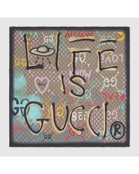Gucci 〔グッチゴースト〕 スカーフ Multicolor