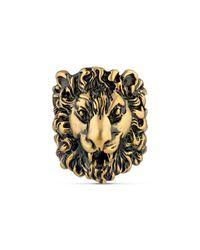 Gucci - Metallic - Lion Head Ring - Lyst