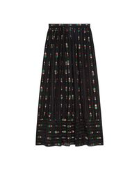 Gucci Green Maxi Skirt With Fil Coupé