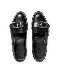 Gucci Black Queercore Brogue Monk Shoe for men