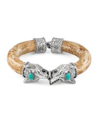 Gucci - Metallic Anger Forest Wolf Head Bracelet for Men - Lyst