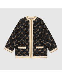 Gucci 【公式】 (グッチ)GGウールニット ジャケットブラック/ベージュ GGウールブラック Black