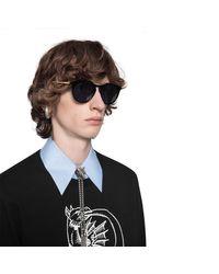 Gafas de sol redondas de acetato Gucci de hombre de color Black
