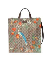 381bd9a9df5f Gucci Tian Soft GG Supreme Tote Bag - Lyst