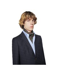 Pañuelo Cuello Estampado Geométrico Joyas Gucci de hombre de color Green