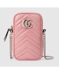 Gucci グッチ公式〔GGマーモント〕ミニバッグパステルピンク レザーcolor_descriptionレザー Pink