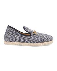 Gucci Herren-Loafer mit Fischgrat-Motiv in Blue für Herren