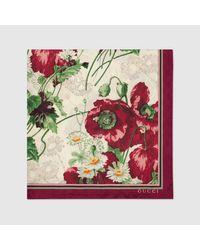 Gucci グッチフローラル プリント GGスカーフ Multicolor