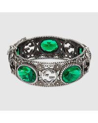 Gucci Green Armband aus Silber mit GG