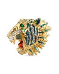 Gucci - Metallic Tiger Head Ring for Men - Lyst