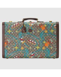 Gucci 【公式】 (グッチ)disney(ディズニー) X ドナルドダック ラージ スーツケースベージュ&エボニー GGスプリームベージュ Multicolor