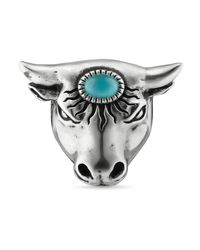 Bague tête de taureau Anger Forest Gucci en coloris Metallic