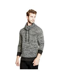 Guess - Black Twisted Funnel Pullover for Men - Lyst