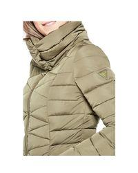 Guess - Green Alyssa Down Puffer Jacket - Lyst