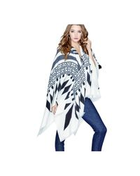 Guess   White Fringed Blanket Scarf   Lyst