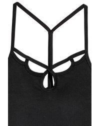 H&M Black Strappy Yoga Top
