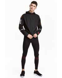 H&M Black Running Tights for men