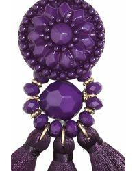 H&M | Purple Earrings With Tassels | Lyst
