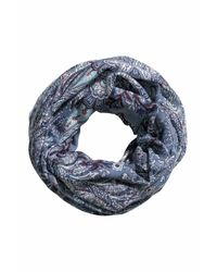 H&M Blue Patterned Tube Scarf