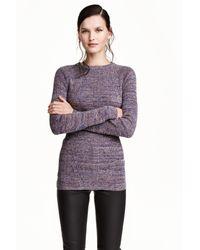 H&M Purple Rib-knit Jumper