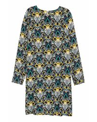 H&M Black Patterned Dress
