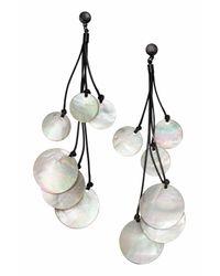 H&M | White Shell Earrings | Lyst