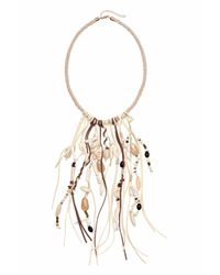 H&M | White Necklace With Shells | Lyst
