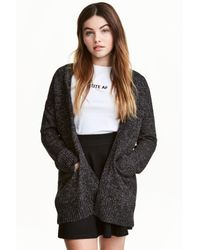 H&M Black Knitted Cardigan
