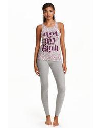 H&M | Gray Pyjamas | Lyst