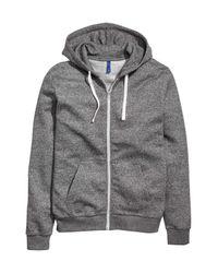 H&M Black Hooded Jacket for men