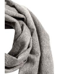 H&M - Gray Wool Scarf - Lyst