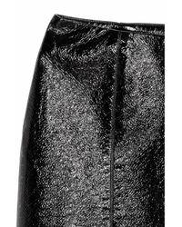 H&M Black Coated Skirt