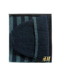 H&M | Blue Hat And Scarf for Men | Lyst