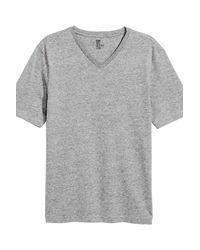 H&M Gray 3-pack T-shirts Regular Fit for men
