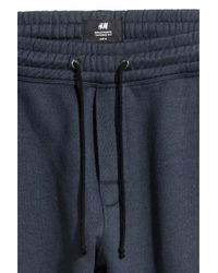H&M Blue Sports Trousers for men