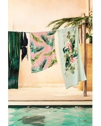 H&M | Green Patterned Beach Towel | Lyst