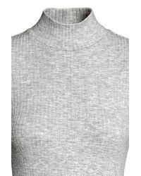 H&M Gray Jersey Turtleneck Dress